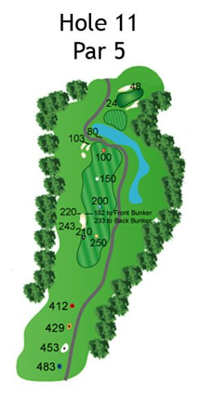 Layout of The Nightmare Hole 11