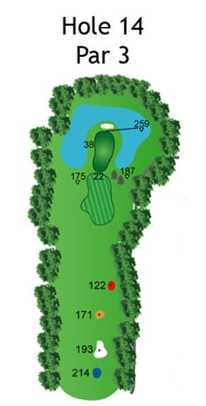 Layout of The Nightmare Hole 14