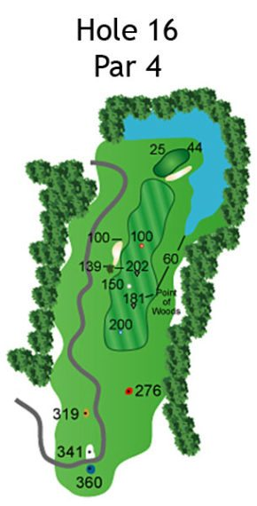 Layout of The Nightmare Hole 16