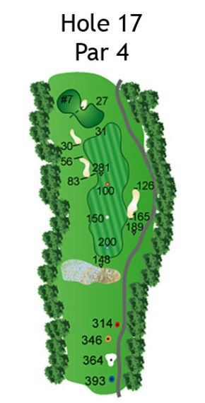 Layout of The Nightmare Hole 17