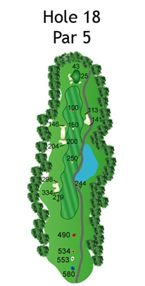 Layout of The Nightmare Hole 18