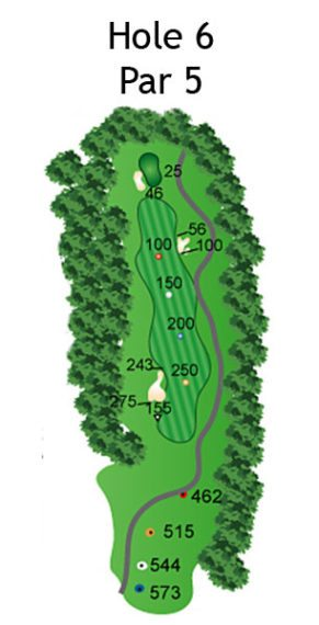 Layout of The Nightmare Hole 6